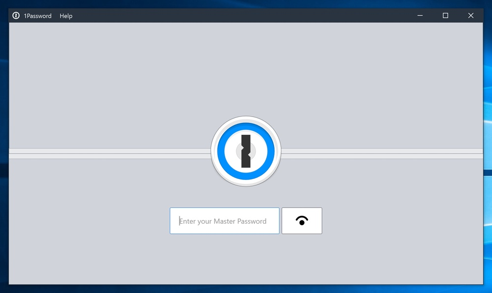 1Password 7 Beta for Windows Lock Screen