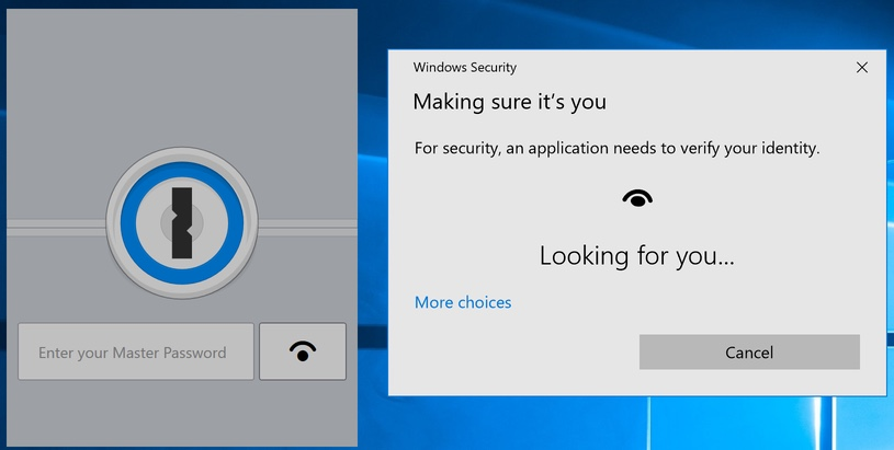 Windows Hello support with 1Password 7 Beta for Windows