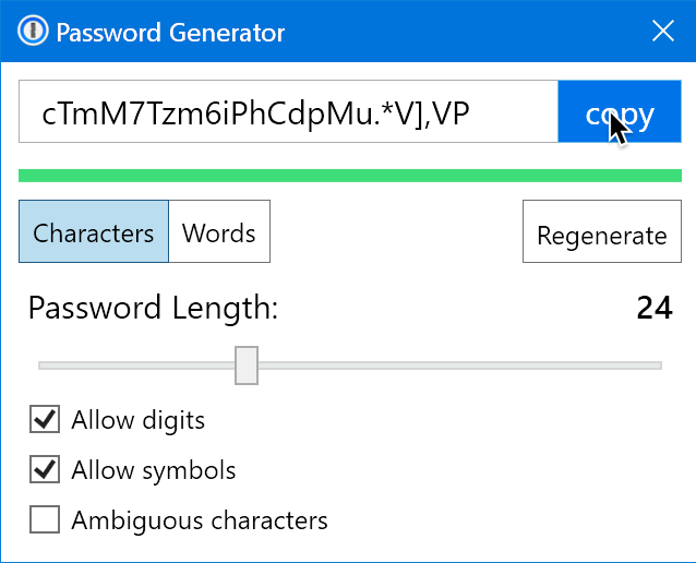 Restrictions in the password generator: why a specific number of ...