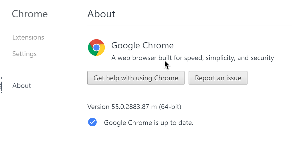 Refused Browser Connection Update To Chrome 55 To Fix The Expired