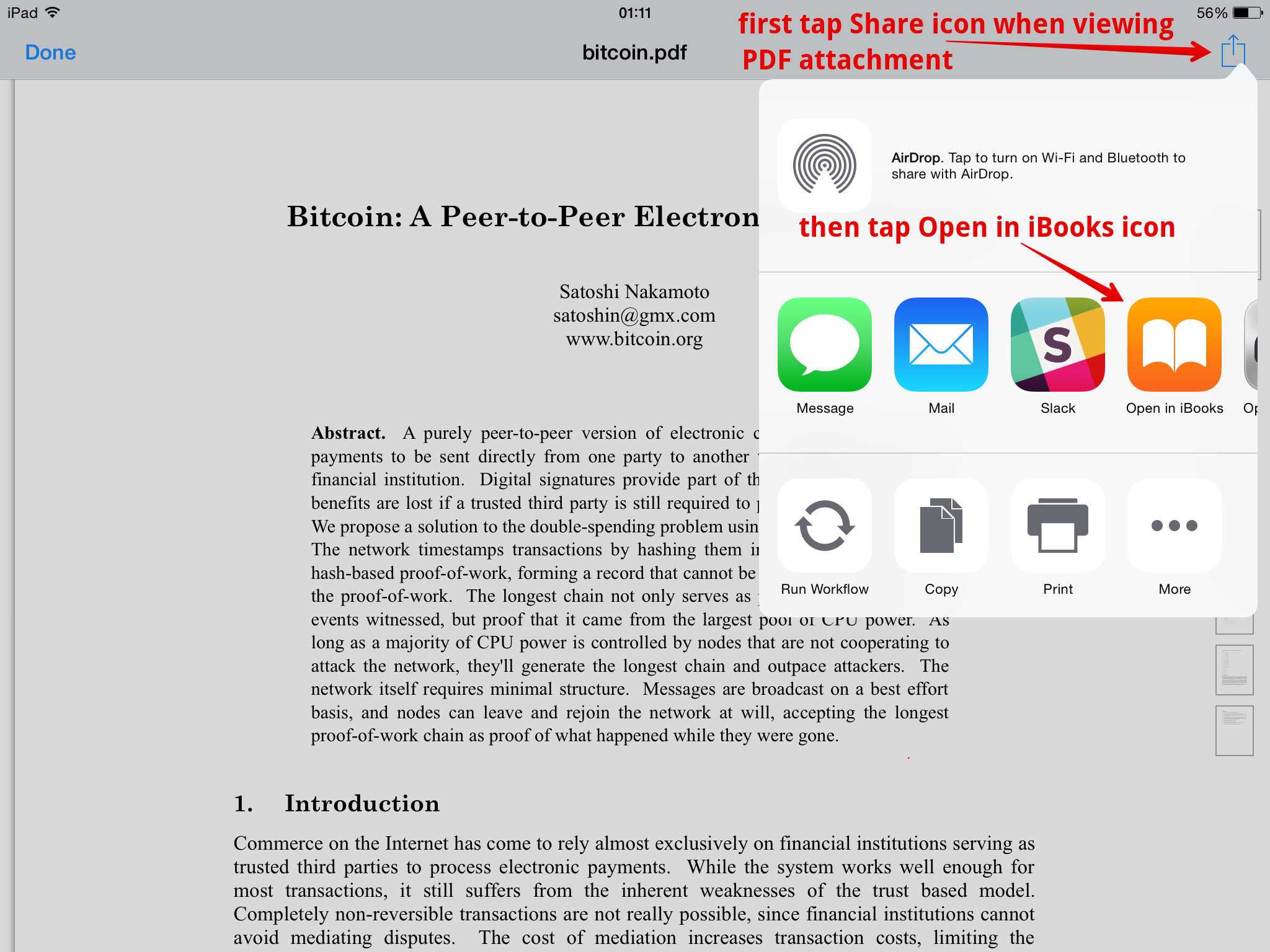 Can you open PDFs in iBooks after they have been opened